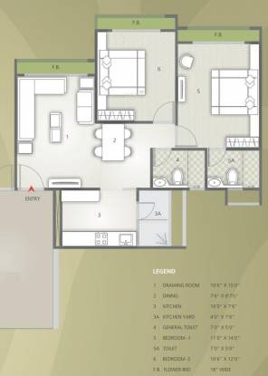 Safal Orchid Elegance (2BHK+2T (1,215 sq ft) Apartment 1215 sq ft)