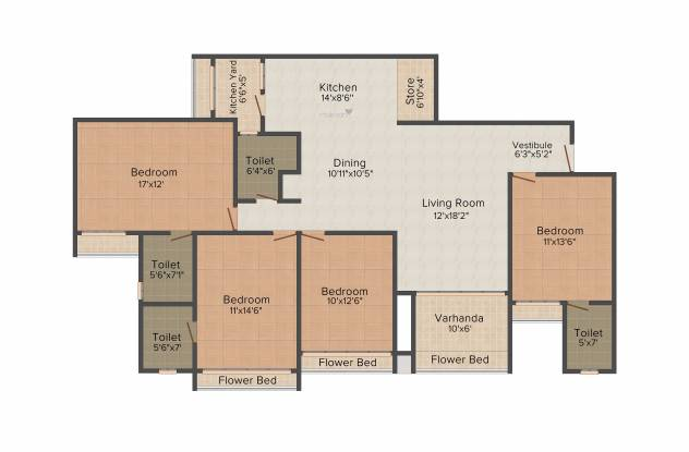 Goyal Orchid Harmony (4BHK+4T (2,300 sq ft) Apartment 2300 sq ft)