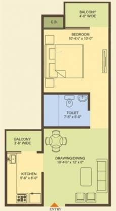 MR Proview Officer City 2 (1BHK+1T (645 sq ft) Apartment 645 sq ft)