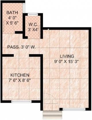 Panvelkar Classic (1BHK+1T (390 sq ft) Apartment 390 sq ft)