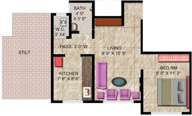 Panvelkar Classic (1BHK+1T (560 sq ft) Apartment 560 sq ft)