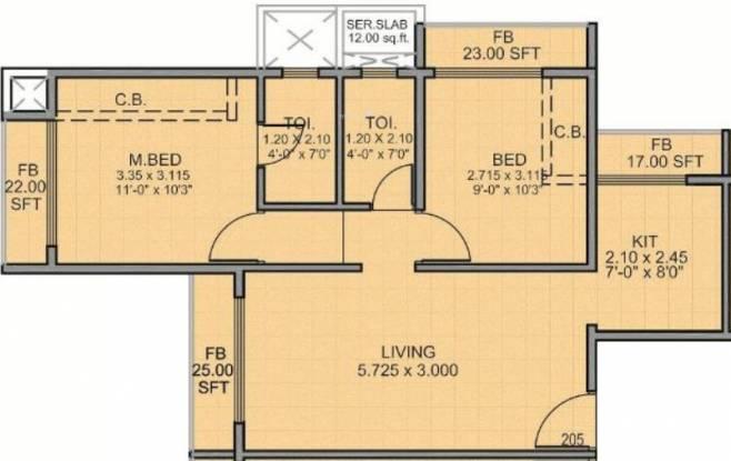 Proviso Corner (1BHK+1T (730 sq ft) Apartment 730 sq ft)