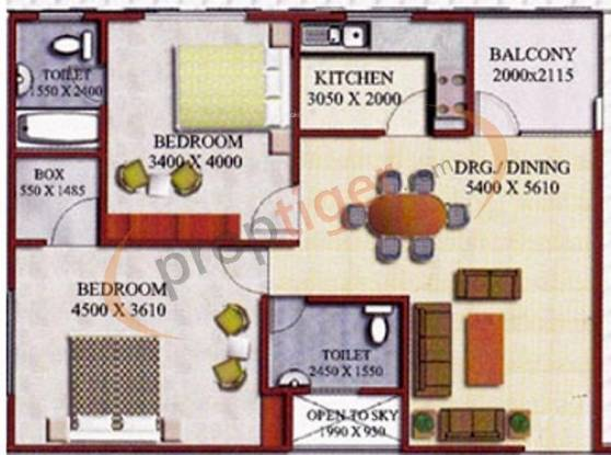 Godawari Agrasen Heights (2BHK+2T (1,200 sq ft) Apartment 1200 sq ft)