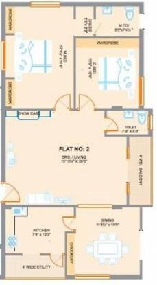 Saishakti Sri Venkataramana Residency (2BHK+2T (1,400 sq ft) Apartment 1400 sq ft)