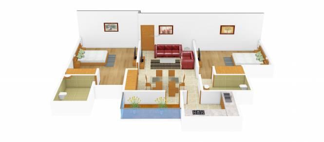 Ansal Sushant Media Enclave (2BHK+2T (1,072 sq ft) Apartment 1072 sq ft)