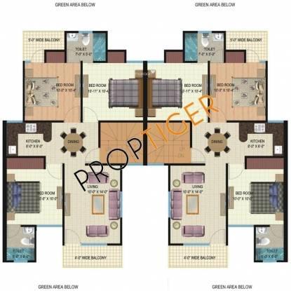 Mapsko City Homes (2BHK+2T (960 sq ft) Apartment 960 sq ft)