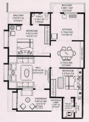 Shalwak Shalwak Manor (2BHK+2T (1,100 sq ft) Apartment 1100 sq ft)