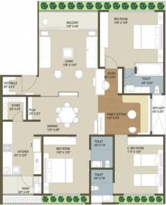 Ganesh Housing Maple County Ganesh Housing Maple County (3BHK+3T)