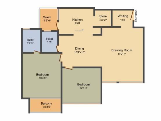 Devnandan Altezza (2BHK+2T (1,350 sq ft) Apartment 1350 sq ft)