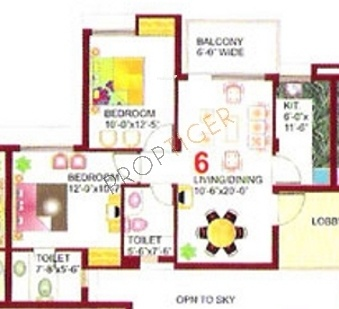 Eros Wimbley Estate (2BHK+2T (1,040 sq ft) Apartment 1040 sq ft)
