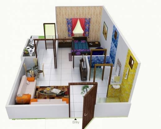 Premium Phase (1BHK+1T (570 sq ft) Apartment 570 sq ft)