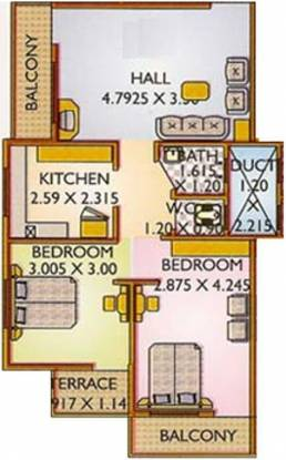 Green City Builders Amans Plaza Green City Builders Amans Plaza (2BHK+1T)
