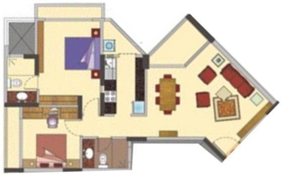 West Pioneer Metro Residency (2BHK+2T (1,050 sq ft) Apartment 1050 sq ft)