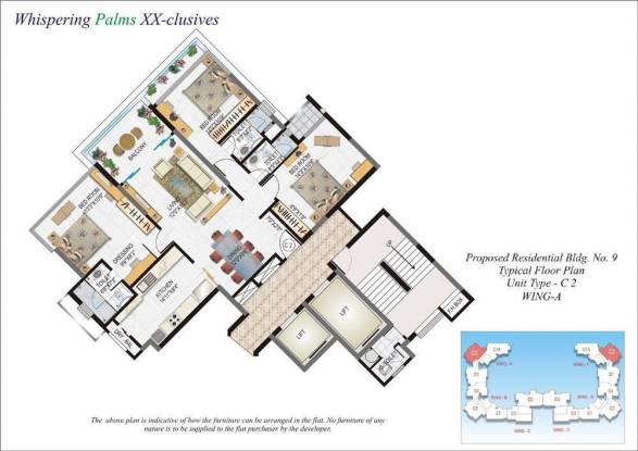 Lokhandwala Whispering Palms XXclusives (3BHK+3T (1,830 sq ft) Apartment 1830 sq ft)