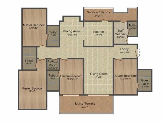 Kasturi Legacy (4BHK+5T (2,660 sq ft) + Servant Room Apartment 2660 sq ft)