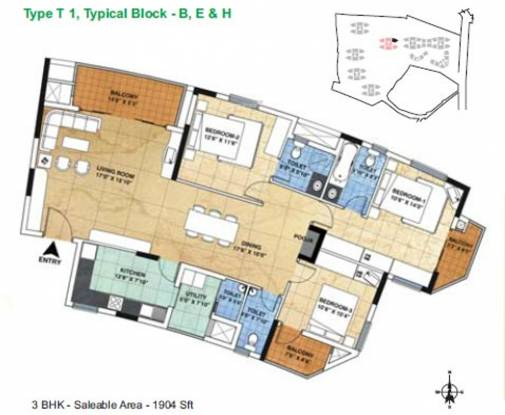 ETA The Gardens (3BHK+3T (1,904 sq ft) Apartment 1904 sq ft)
