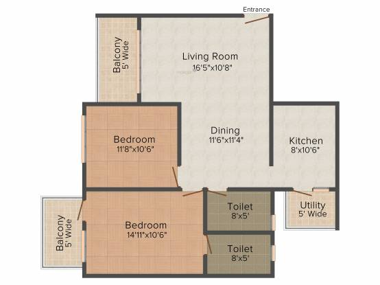 Edcon Real Estate Developers Rio Grande (2BHK+2T (1,216 sq ft) Apartment 1216 sq ft)