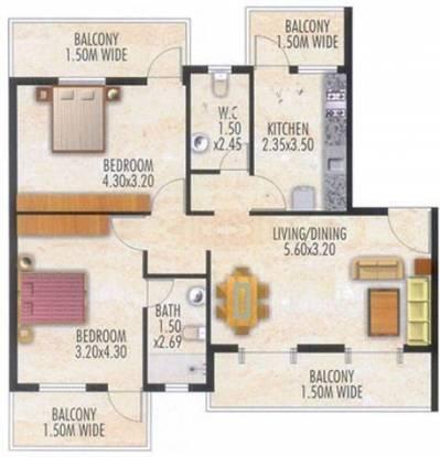 Devashri Splendor (2BHK+2T (1,237 sq ft) Apartment 1237 sq ft)