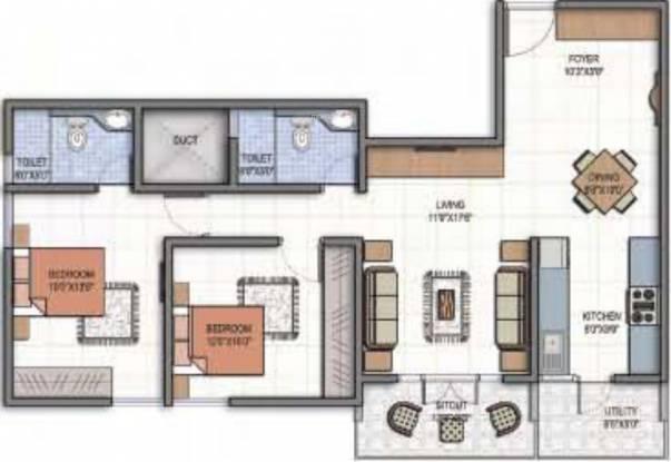 Century Marvel (2BHK+1T (1,087 sq ft) Apartment 1087 sq ft)
