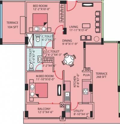 Aakruti Amity (2BHK+2T (1,140 sq ft) Apartment 1140 sq ft)