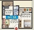 Mahaveer Fortune (1BHK+1T (541 sq ft) Apartment 541 sq ft)