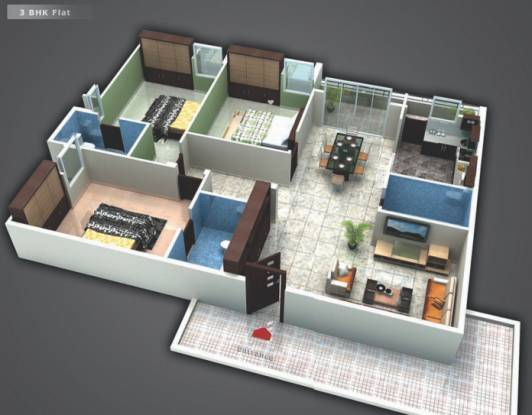 Saroj Cosmos (3BHK+3T (1,745 sq ft) Apartment 1745 sq ft)