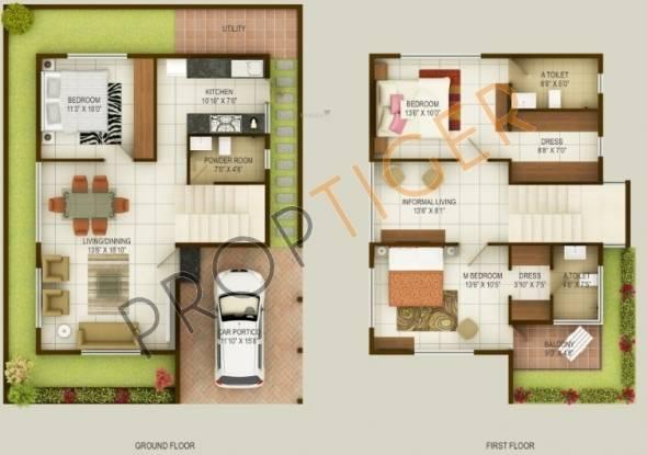 MS Royal Sunnyvale (3BHK+3T (1,700 sq ft)   Study Room Villa 1700 sq ft)