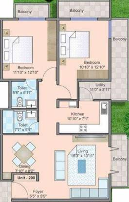 Millennia Mount Galilee (2BHK+2T (1,300 sq ft) Apartment 1300 sq ft)