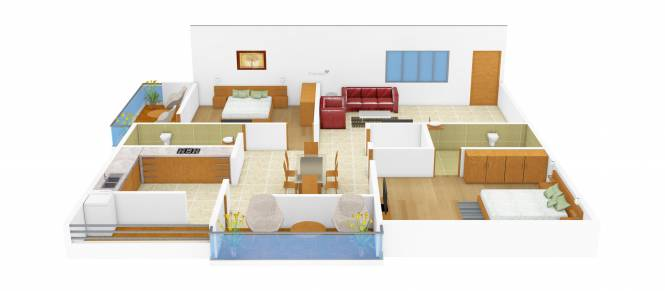 Visalakshi Sansita Pride (2BHK+2T (1,270 sq ft)   Pooja Room Apartment 1270 sq ft)
