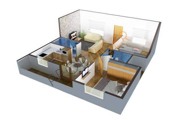 DS Spring (2BHK+2T (1,110 sq ft) Apartment 1110 sq ft)