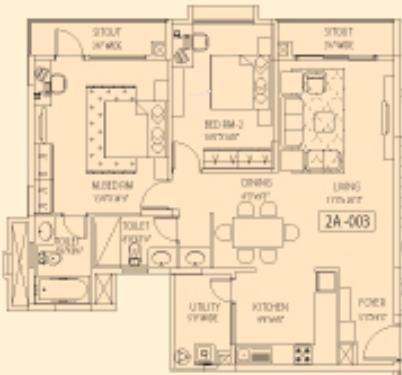 Akme Encore (2BHK+2T (1,180 sq ft) Apartment 1180 sq ft)
