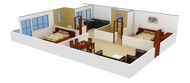 PSR Aster (2BHK+2T (970 sq ft) Apartment 970 sq ft)