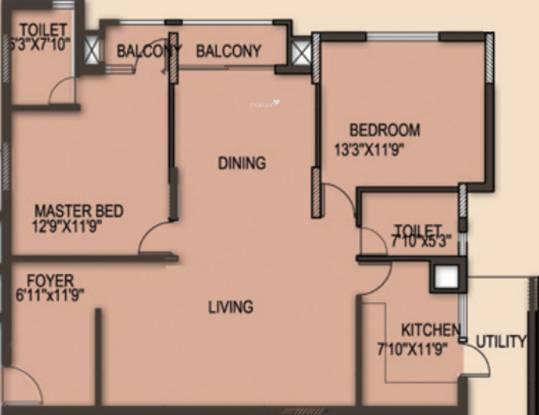RNS Shanthi Nivas (2BHK+2T (1,263 sq ft) Apartment 1263 sq ft)