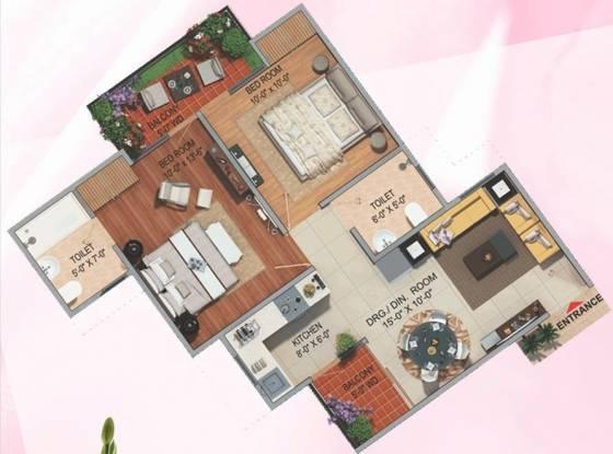 Divyansh Flora (2BHK+2T (965 sq ft) Apartment 965 sq ft)