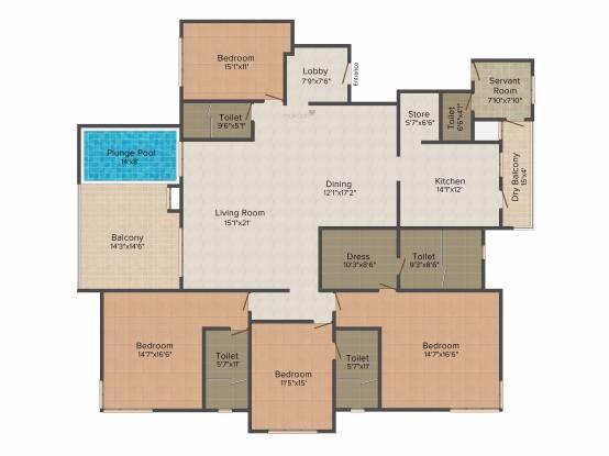 Estado Presidential (4BHK+4T (3,353 sq ft) Apartment 3353 sq ft)