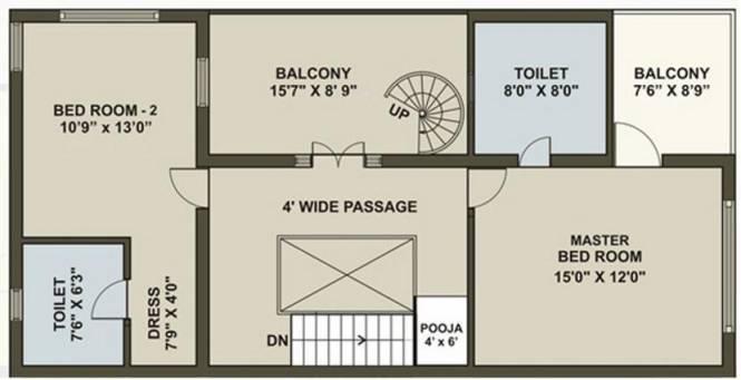 Ganesh Shangrila (3BHK+3T (2,295 sq ft)   Pooja Room Villa 2295 sq ft)