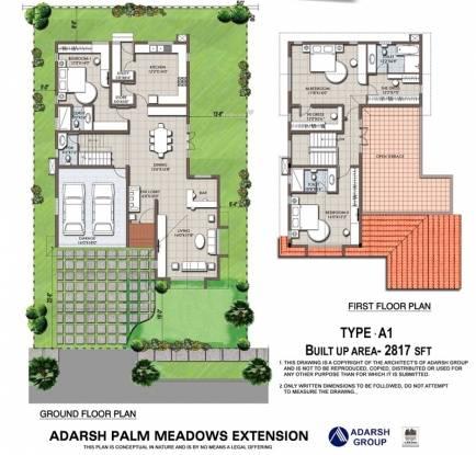 Adarsh Palm Meadows (3BHK+3T (2,817 sq ft) Villa 2817 sq ft)