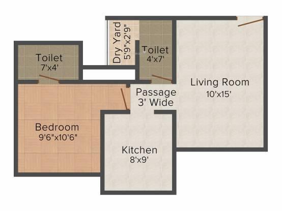 Rosa Gardenia (1BHK+1T (640 sq ft) Apartment 640 sq ft)