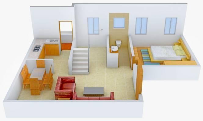 Green Beverly Slopes (3BHK+3T (1,424 sq ft)   Pooja Room Villa 1424 sq ft)