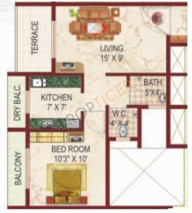 Lakhani White Castle (1BHK+1T (720 sq ft) Apartment 720 sq ft)