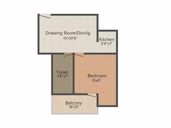 Avj Heightss (1BHK+1T (600 sq ft) Apartment 600 sq ft)