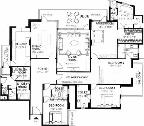 DLF Pinnacle (4BHK+5T (3,868 sq ft)   Servant Room Apartment 3868 sq ft)