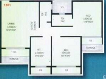 Mahavir Plaza (2BHK+2T (1,150 sq ft) Apartment 1150 sq ft)