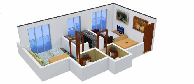 Space Space Galaxy (1BHK+2T (625 sq ft) Apartment 625 sq ft)