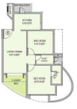 Nahar Jonquille and Jamaica (2BHK+2T (978 sq ft) Apartment 978 sq ft)