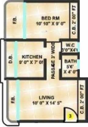 Sanghvi Shankheshwar Nagar (1BHK+1T (680 sq ft) Apartment 680 sq ft)