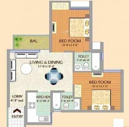 SDS NRI Residency (3BHK+3T (1,135 sq ft) Apartment 1135 sq ft)