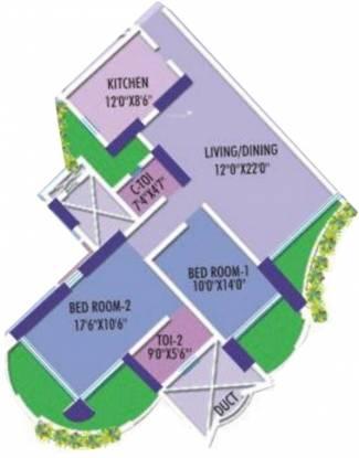 Marathon Nextgen Era (2BHK+2T (1,388 sq ft) Apartment 1388 sq ft)