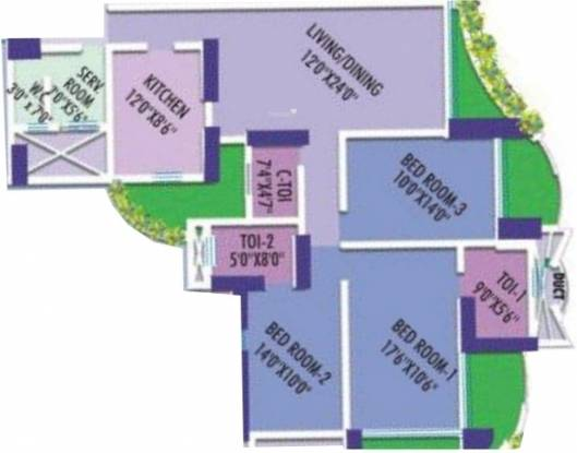 Marathon Nextgen Era (3BHK+3T (1,800 sq ft)   Servant Room Apartment 1800 sq ft)