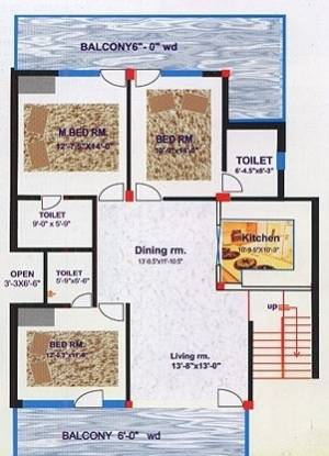 Mittal Cosmos Executive (3BHK+3T (1,340 sq ft) Apartment 1340 sq ft)